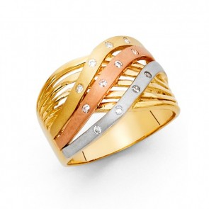 14K tricolor fancy ring EJRG1727