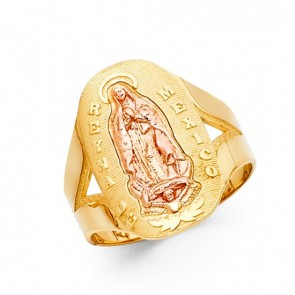 14K Reyna de Mexico Guadalupe ring EJRG1758