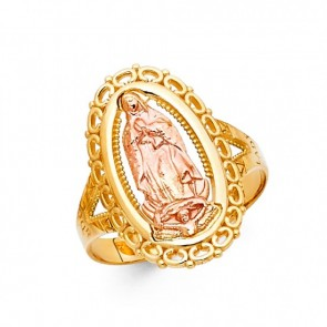 14K gold Lady of Guadalupe ring EJRG1764