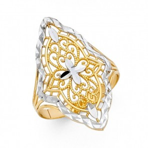 14K D/C Marquise ring EJRG1832