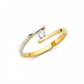 14K two tone designer ring EJRG2168