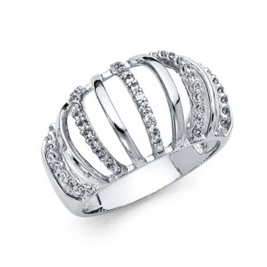 14K white fancy Ladies ring EJRG276