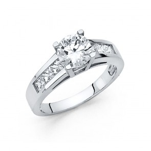 14K white gold engagement ring EJRG31W