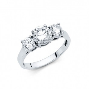 14K White Engagement Ring EJRG34W