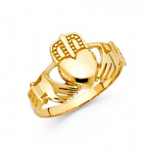 14K yellow Claddagh ring EJLR30617