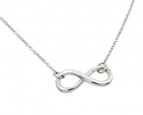 EJSTP01373 - Solid Sterling silver necklace with infinity pendant