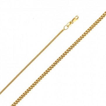 14K gold 1.3mm Cuban chain EJ35104040
