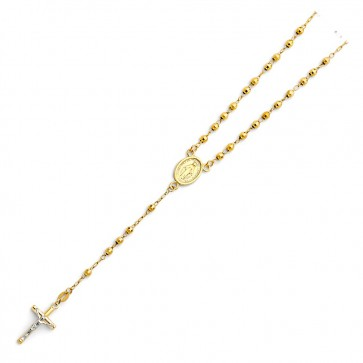 "14K bead 17"" rosary necklace EJN14104"