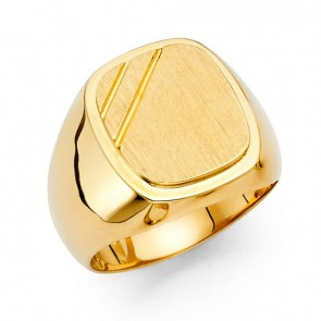 14K Yellow Gold Square Signet Ring EJMR29814