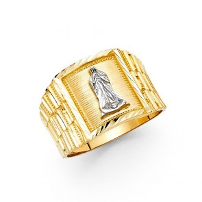 14K yellow gold Men's Guadalupe ring EJMR29801