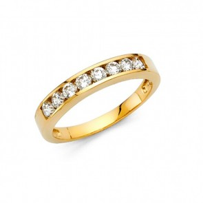 14K Half Eternity CZ ring EJLR31230