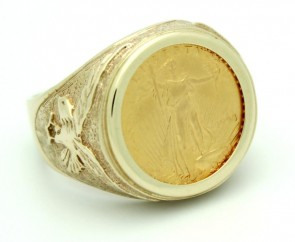 22K American Eagle Coin in 14K Ring EJR35007