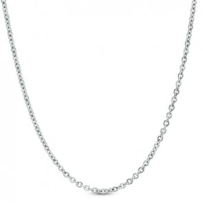 EJCN35330 - Solid 14K white gold D/C Rolo 1.3mm chain