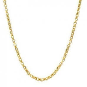 EJCN35509 - 14K YELLOW GOLD 3mm HOLLOW ROLO CHAIN