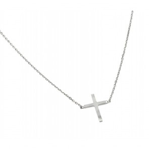 EJBGP00883 - Solid Sterling Silver necklace with cross pendant