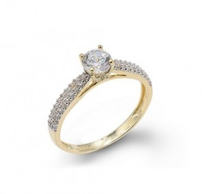 14K yellow engagement ring EJLRCZ11