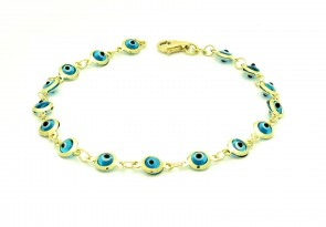 14K Good Luck eye bracelet EJB11915L