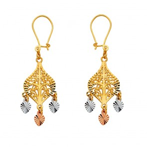 14K Multi-Tone Chandelier D/C earrings EJER22808
