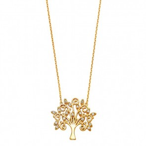 14K yellow Magic Tree necklace EJNK0226