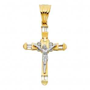 14K yellow fancy crucifix EJPT926