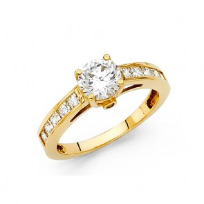 14K yellow gold engagement ring EJRG23