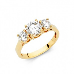 14K 3 Stone Engagement Ring EJRG34
