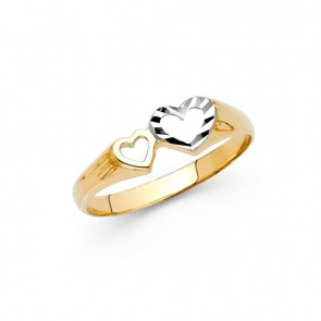 14K Double Hearts ring EJRG638