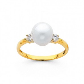 14K gold Pearl ring EJRG696