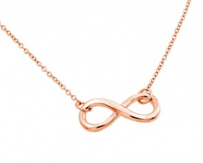 EJSTP01373RGP - Solid Sterling silverrose gold plated  necklace with infinity pendant